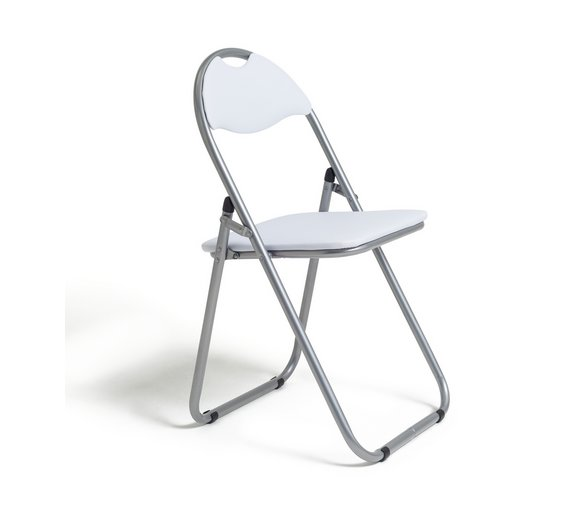 Buy Padded Folding Office Chair White At Your Online Shop For
