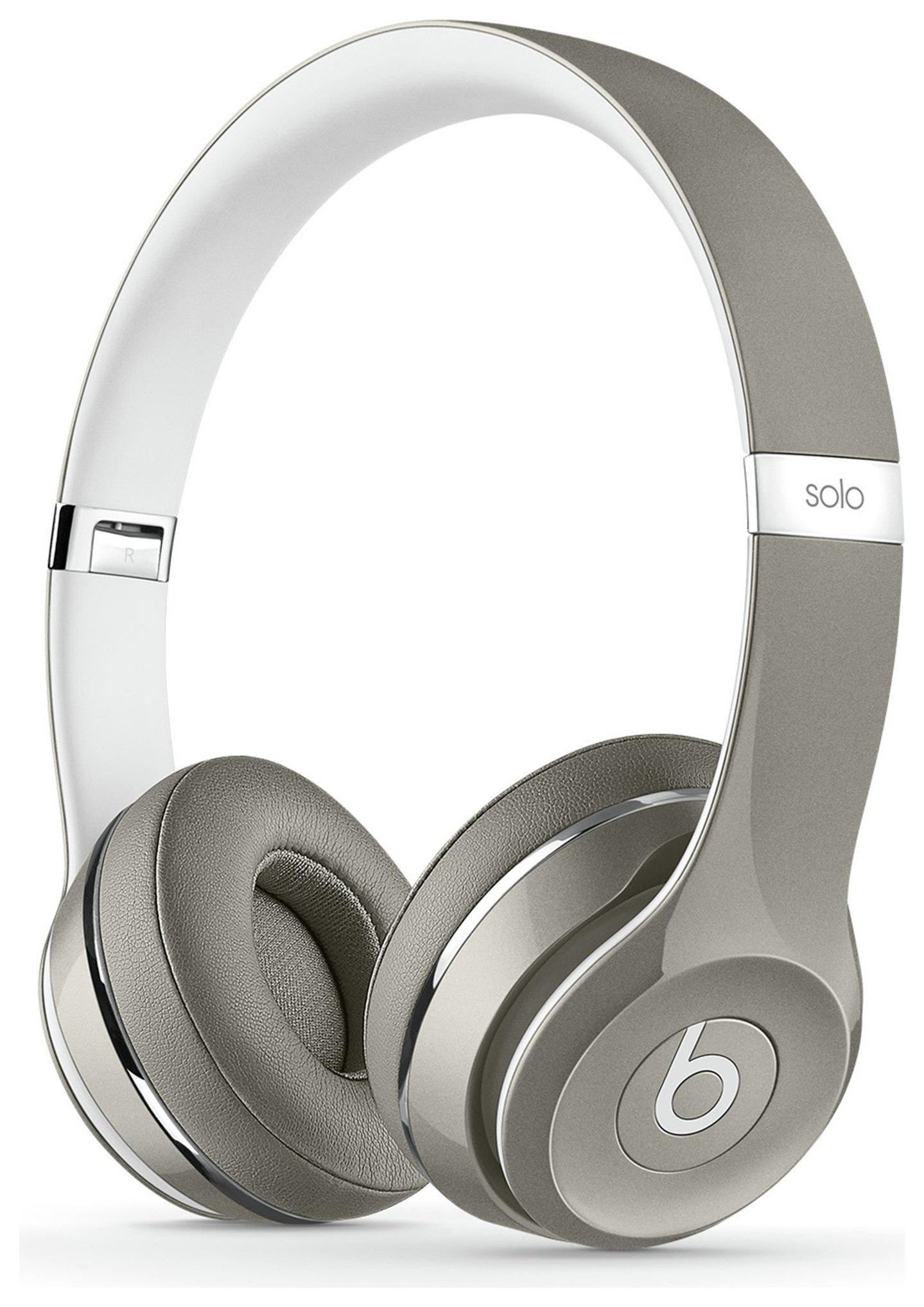 Image of Beats - Solo2 On-Ear Headphones Luxe Edition - Silver