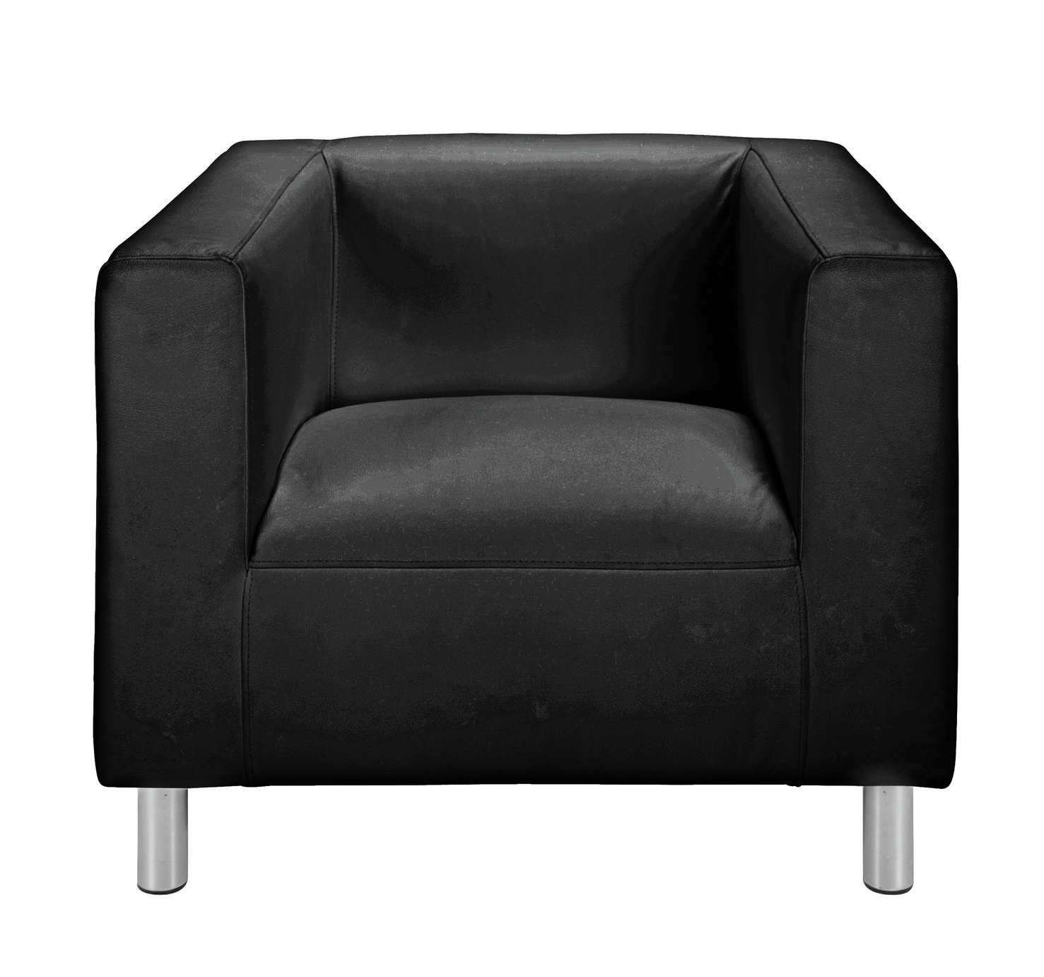 Argos Home Moda Faux Leather Armchair - Black
