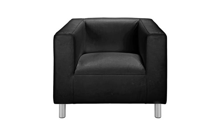 Habitat Moda Faux Leather Armchair - Black