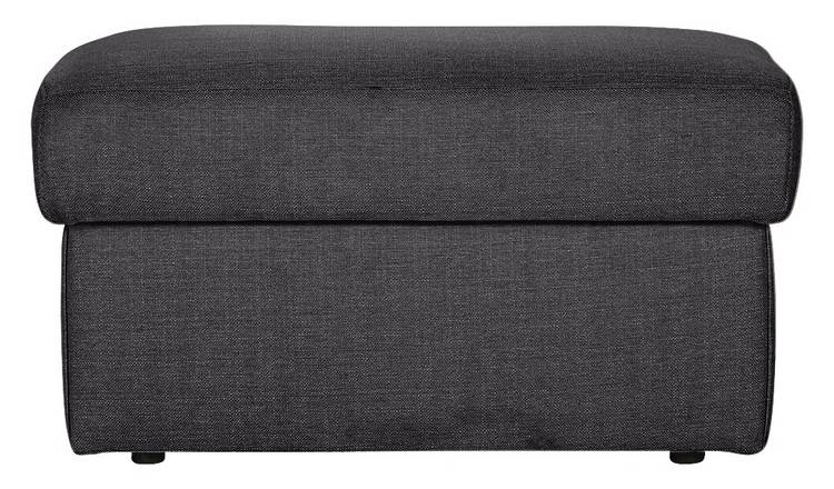 Argos Home Milano Fabric Storage Footstool - Charcoal