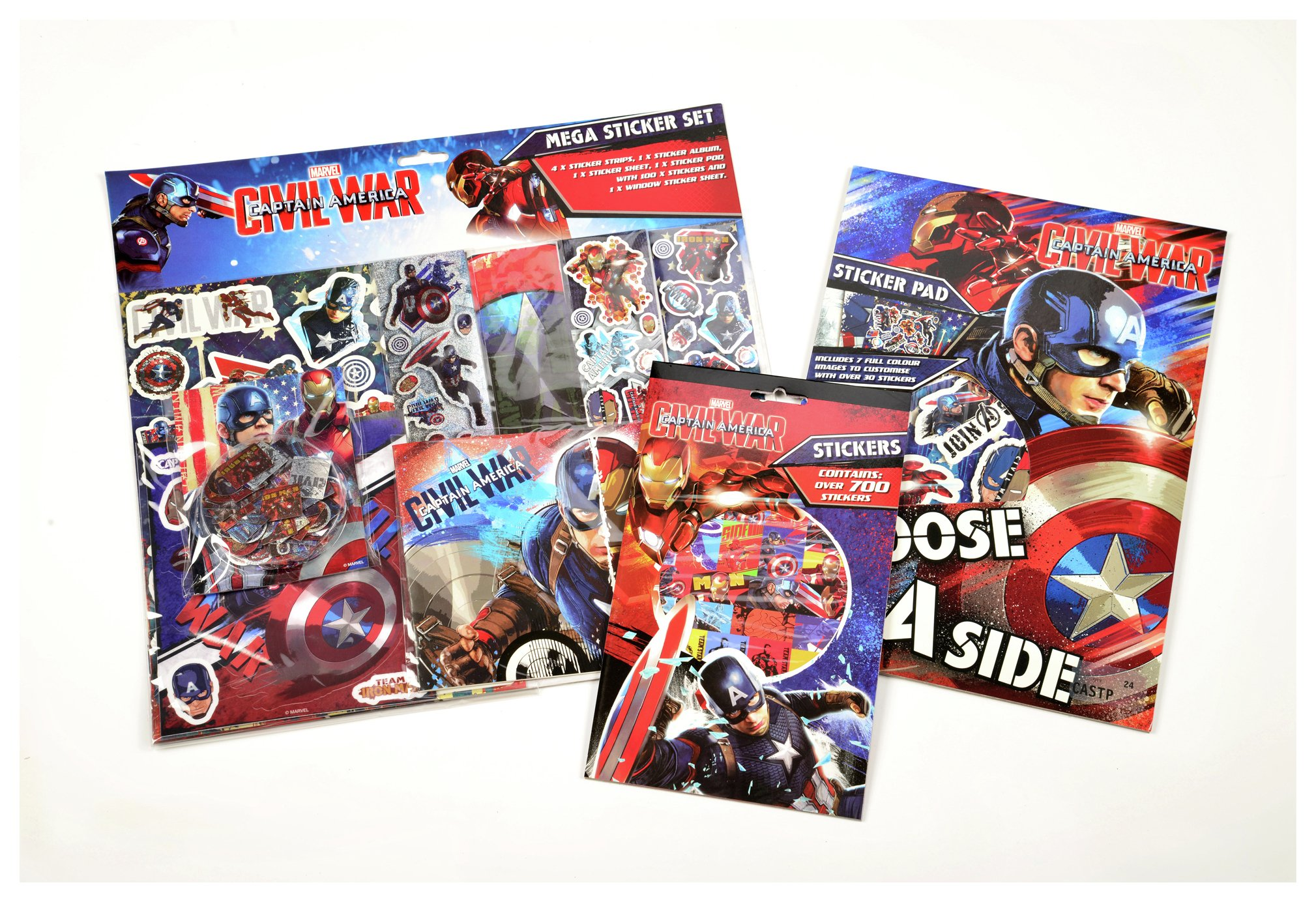 Image of Captain America Sticker Bundle.