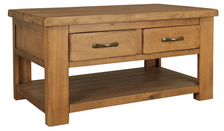 Solid Pine Coffee Table.Buy Argos Home Arizona 2 Drawer 1 Shelf Solid Pine Coffee Table Coffee Tables Argos