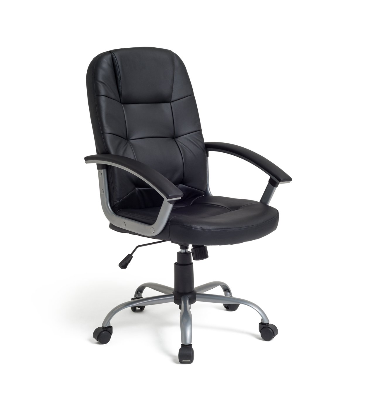 buy walker height adjustable office chair - black at argos.co.uk