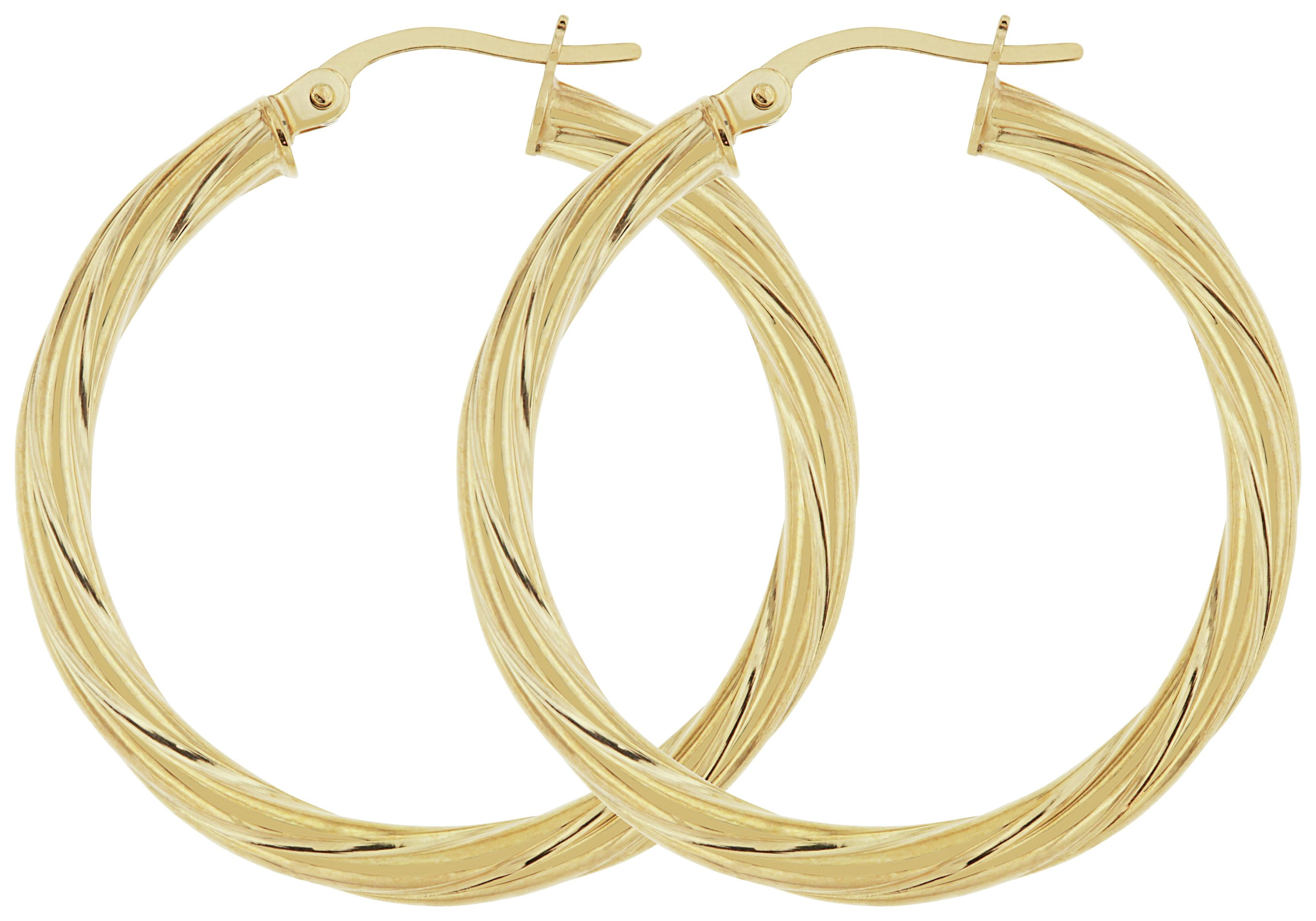 Image of Bracci - 9 Carat Gold - 30mm Twist - Hoop Earrings.