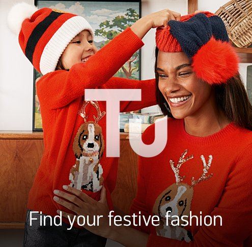 Tu clothing. Find your festive fashion.