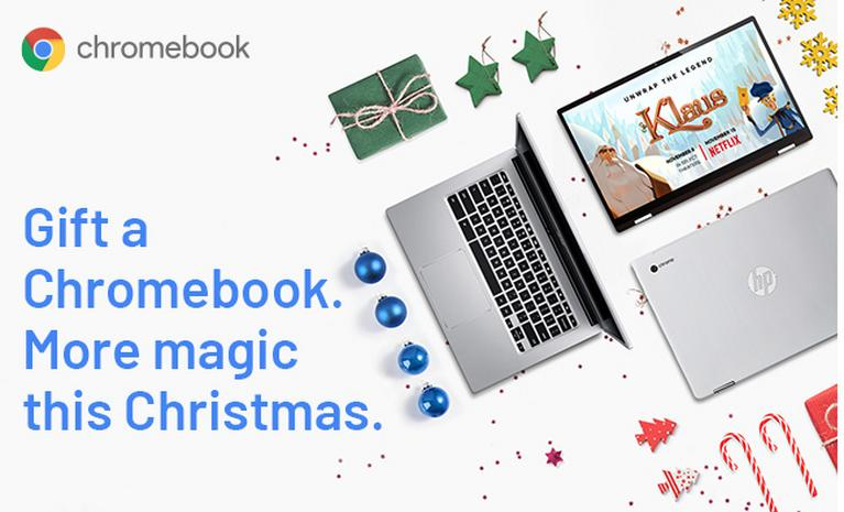 Gift a Chromebook. More magic this Christmas.