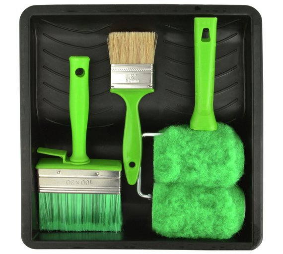 Buy coral shed and fence paint roller brush set piece
