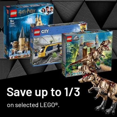 Save up to 1/3rd on selected LEGO®.