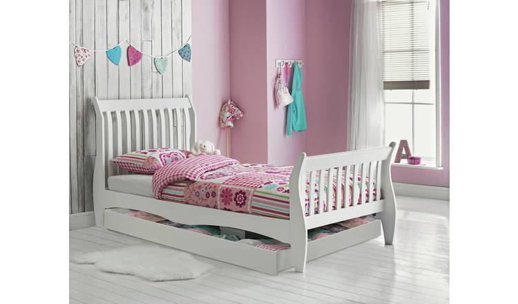Argos Home Daisy Single Bed, Drawer and Mattress - White