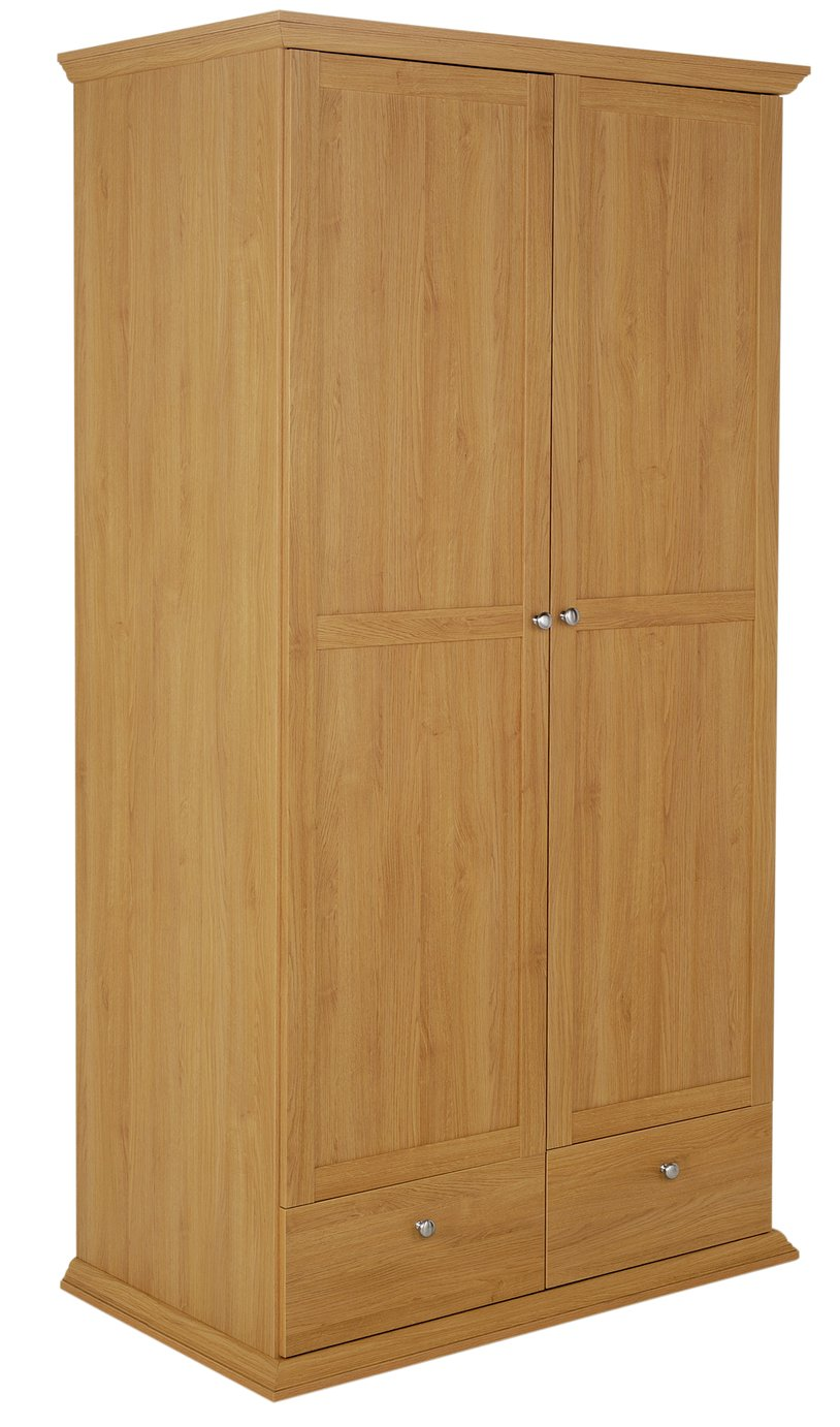 Buy Home Canterbury 2 Door 2 Drawer Large Wardrobe Oak