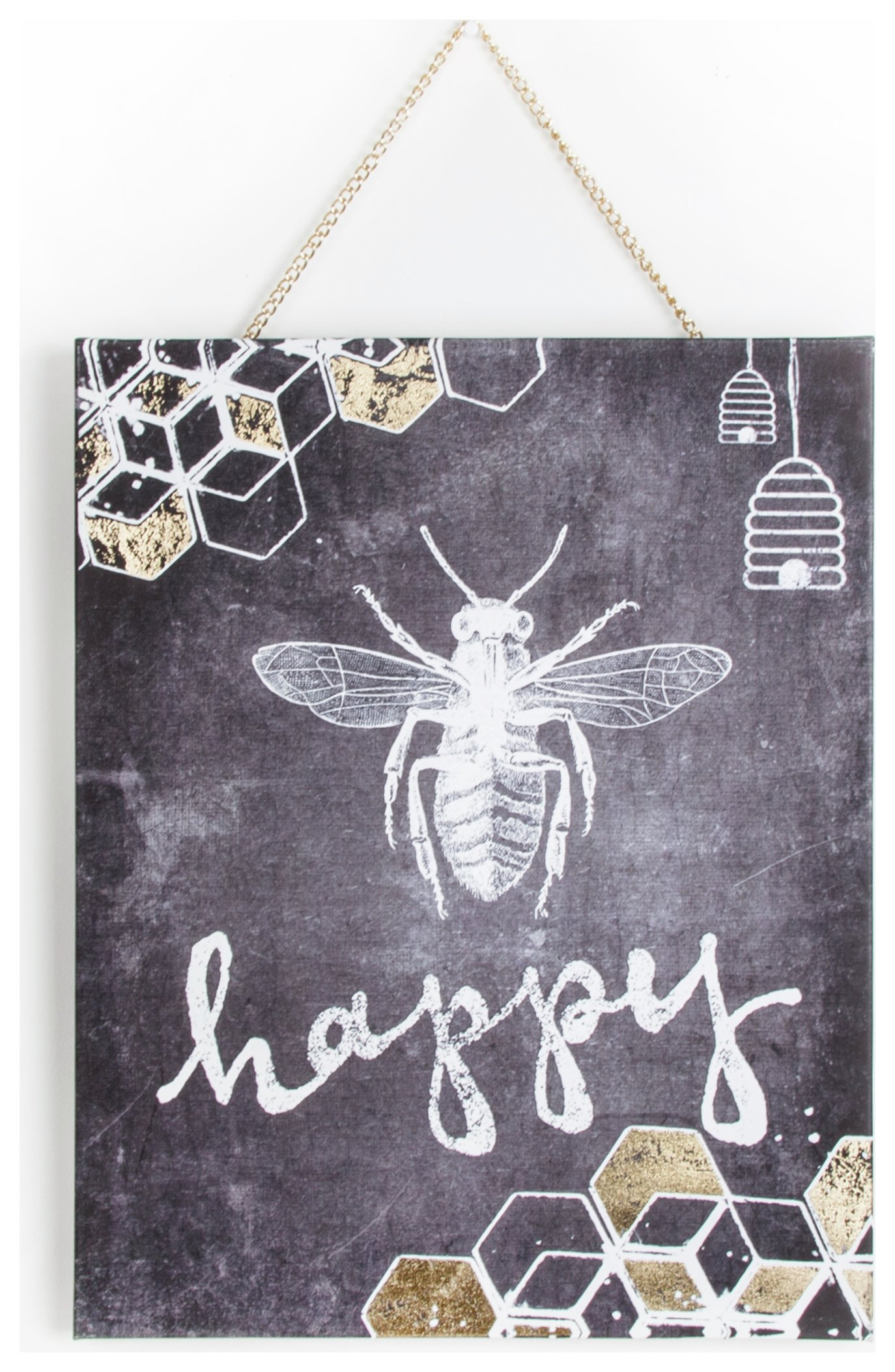 Image of Graham & Brown Bee Happy Canvas.