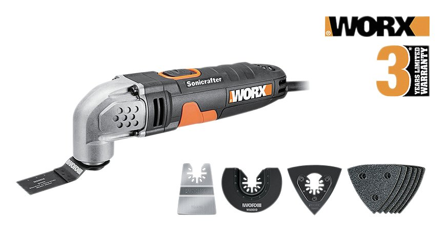 WORX WX667.1 Sonicrafter Oscillating Multi-Tool - 230W