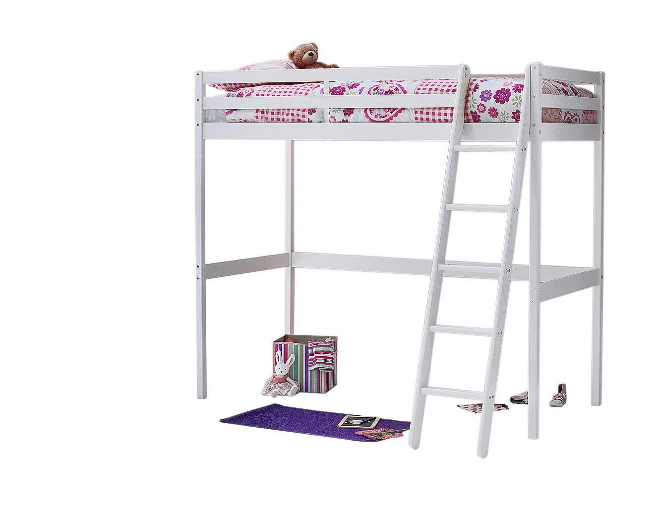 Argos Home Kaycie White High Sleeper Bed & Kids Mattress