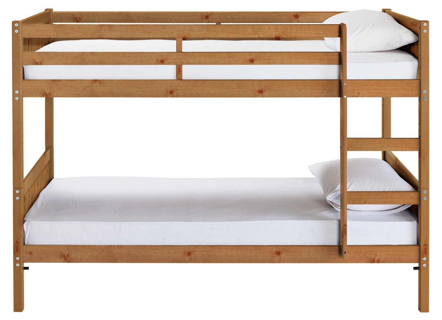 Image of Detachable Bunk Bed with 2 Ashley Mattresses - Pine