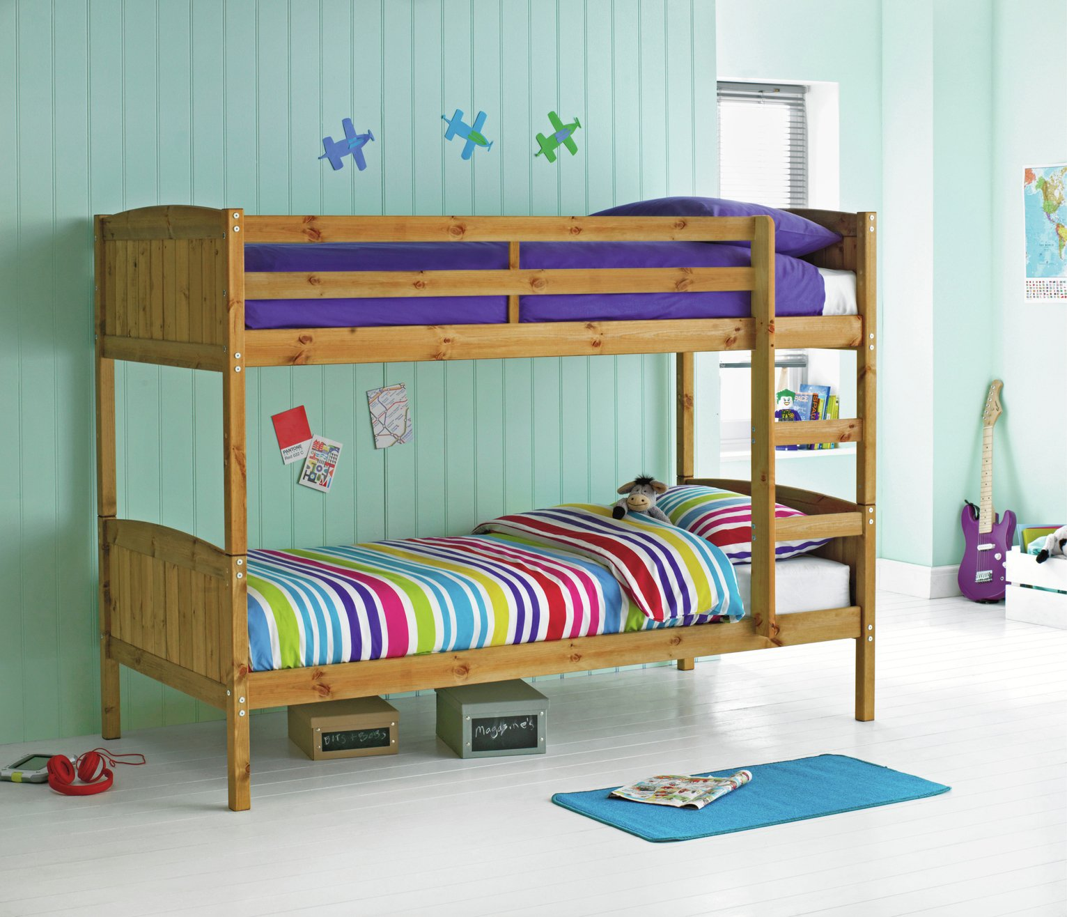 Picture of: Argos Home Detachable Pine Bunk Bed 2 Kids Mattresses 4822480 Argos Price Tracker Pricehistory Co Uk