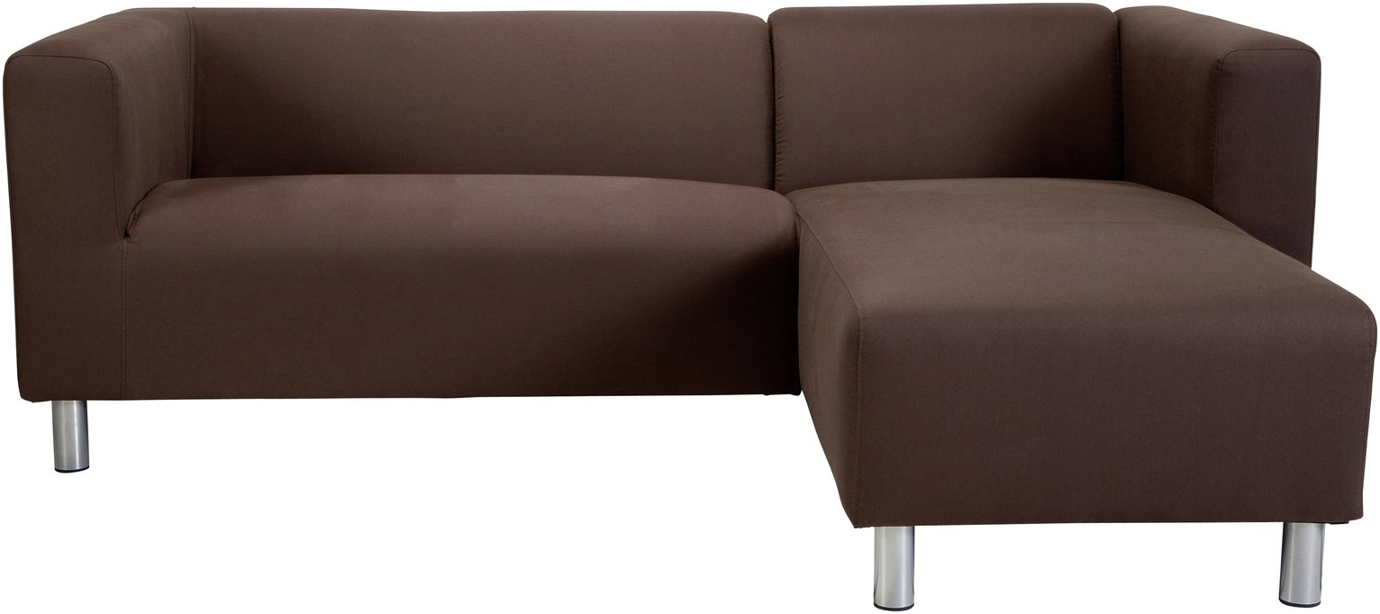 Argos Home Moda Right Corner Fabric Sofa - Chocolate
