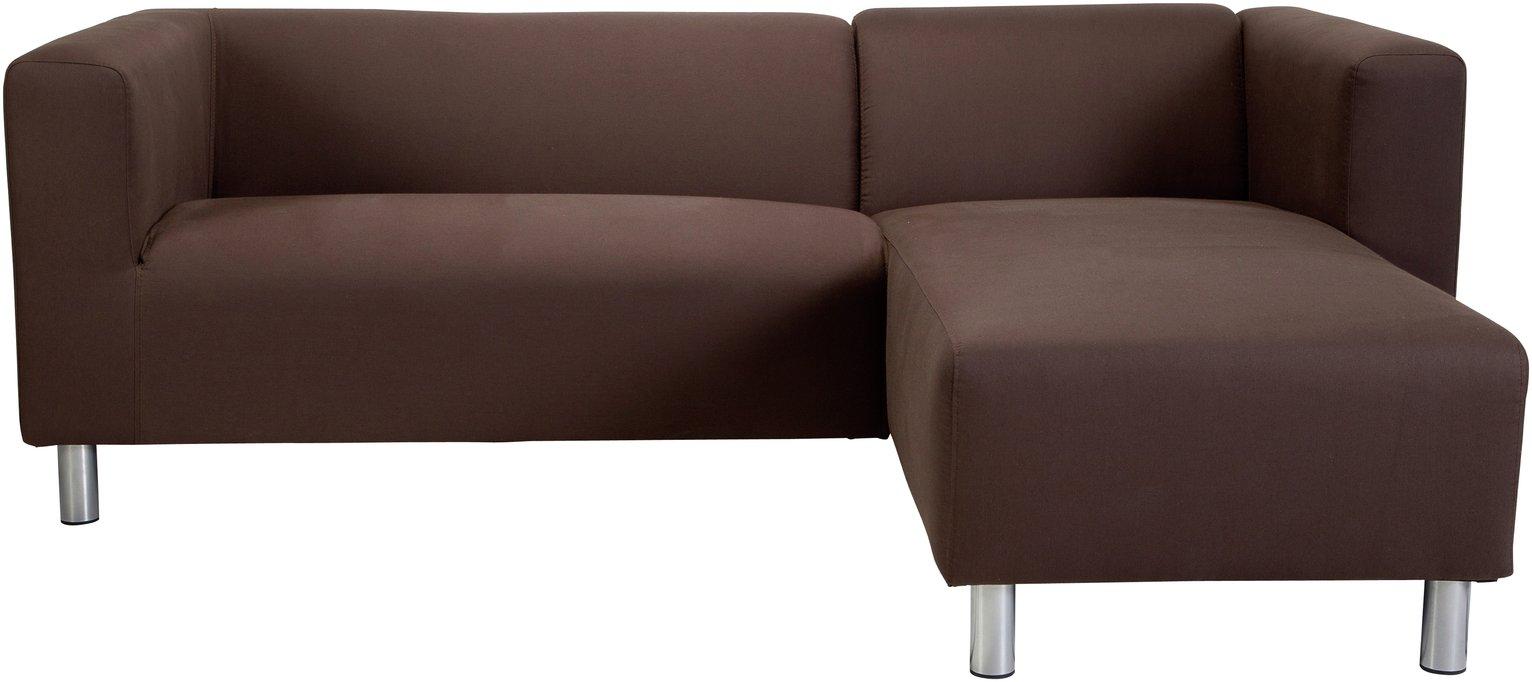 'Colourmatch - Moda - Fabric Right Hand Corner Sofa - Chocolate