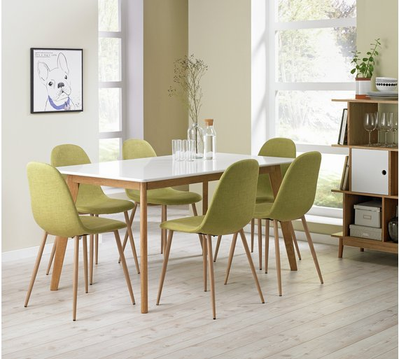 Dining Sets Online: Buy Hygena Beni Dining Table And 6 Chairs