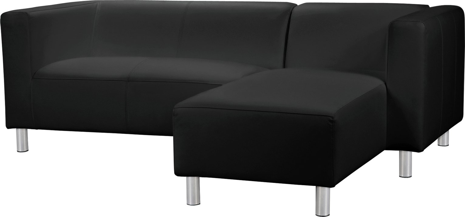 Argos Home Moda Right Corner Fabric Sofa - Black