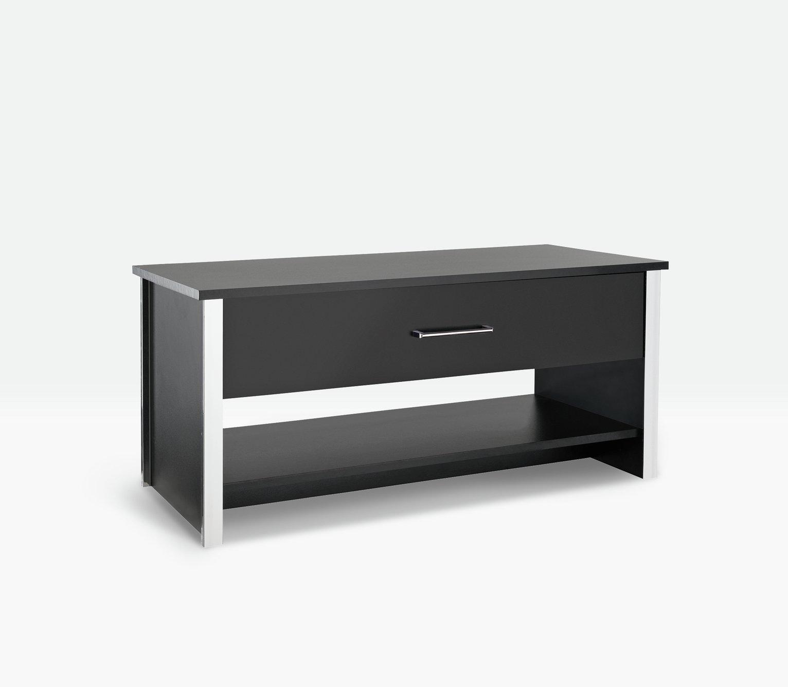 HOME San Marino 1 Drawer 1 Shelf Coffee Table   Black