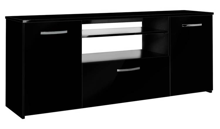 Argos Home Hayward 2 Door 1 Drawer Sideboard - Black Gloss