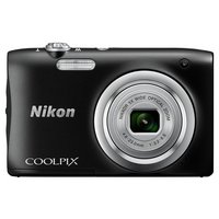 Nikon - Coolpix A100 20MP 5x - Zoom - Compact Camera - Black