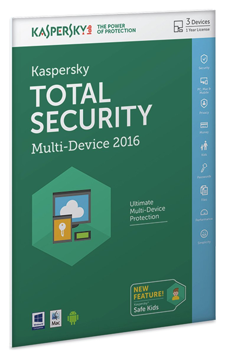 Image of Kaspersky TS 2016 1 Year 3 Devices Internet Security