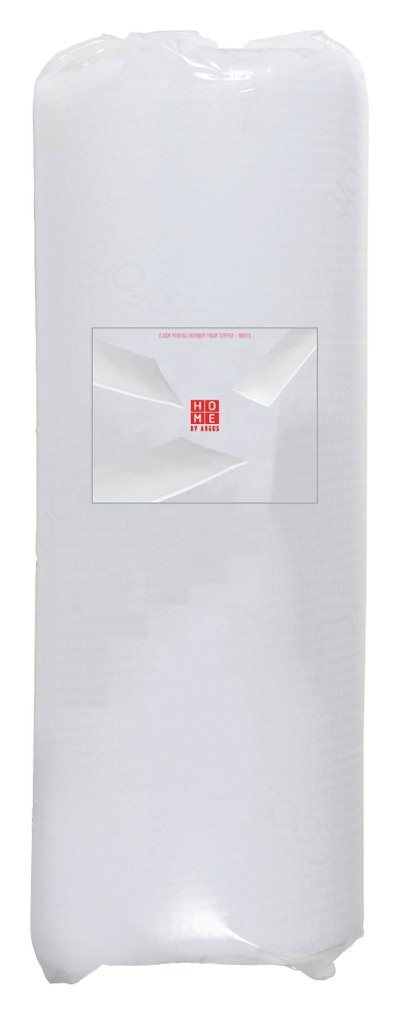 home profile memory foam mattress topper kingsize