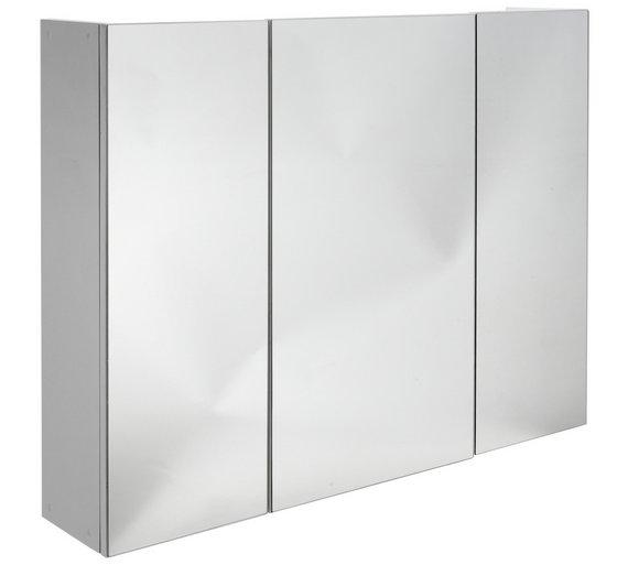 Buy HOME 3 Door Mirrored Cabinet At Argoscouk