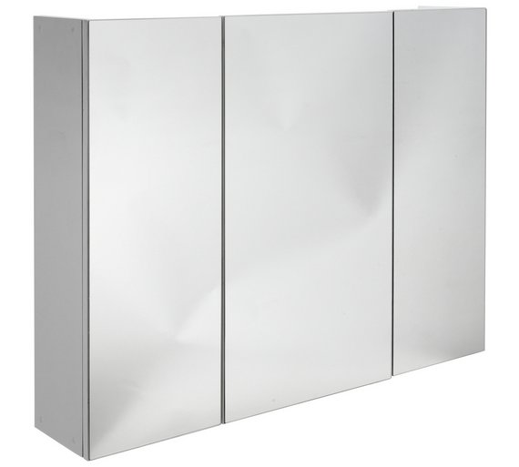 3 Door Mirrored Bathroom Cabinet | Bar Cabinet