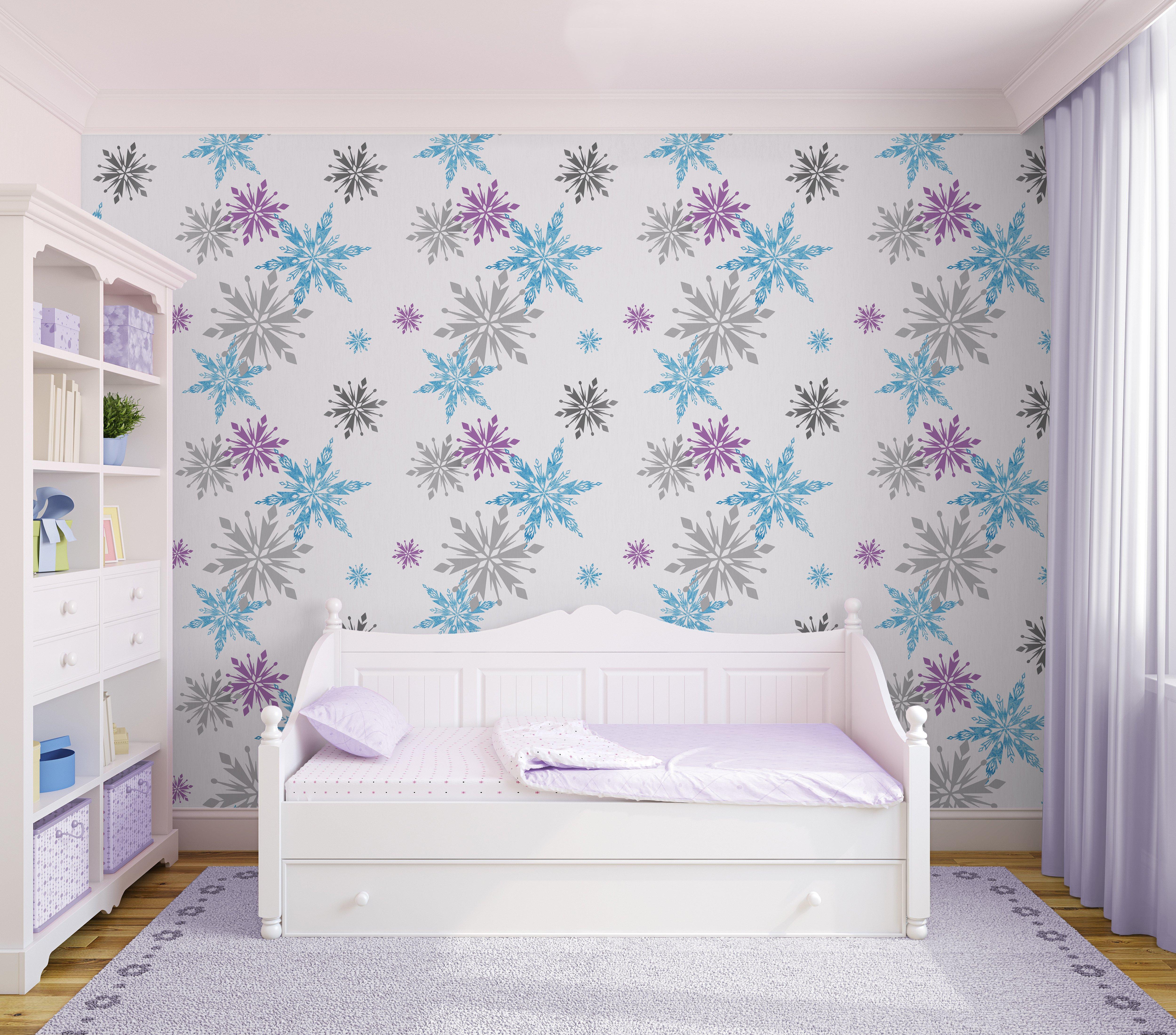 disney frozen snowflake multi wallpaper sample.
