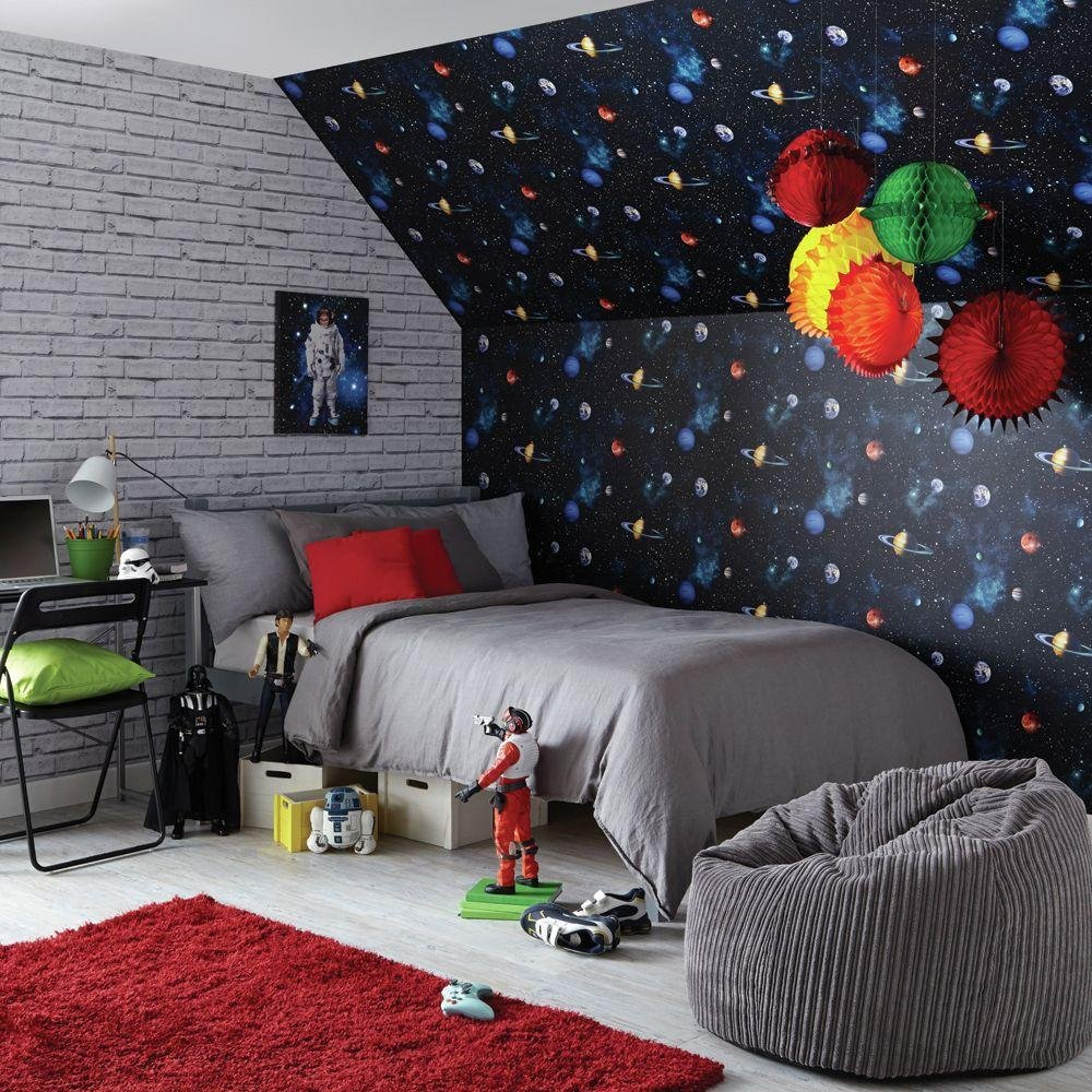 Image of Arthouse Imagine Fun Cosmos Charcoal Wallpaper.