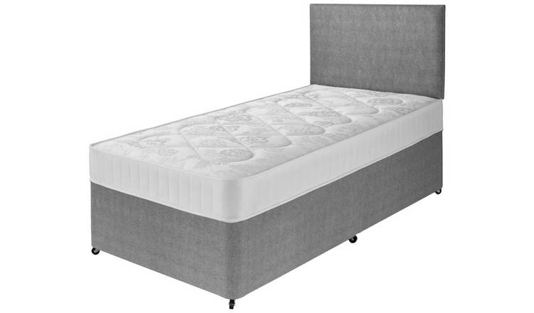 Argos Home Elmdon Comfort Single Divan Bed - Grey