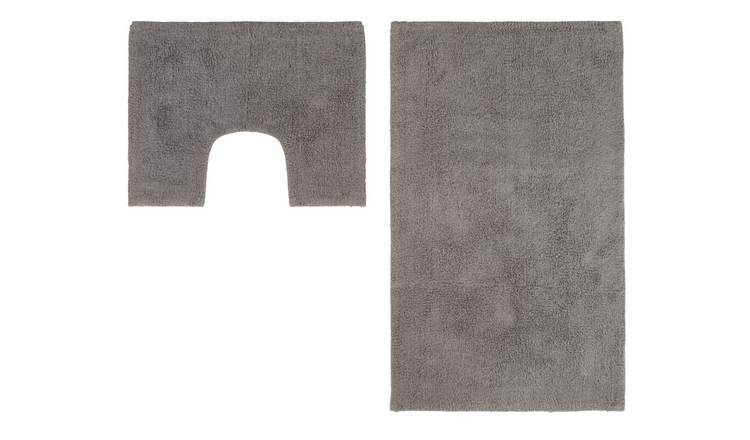 Argos Home Bath and Pedestal Mat Set - Flint Grey