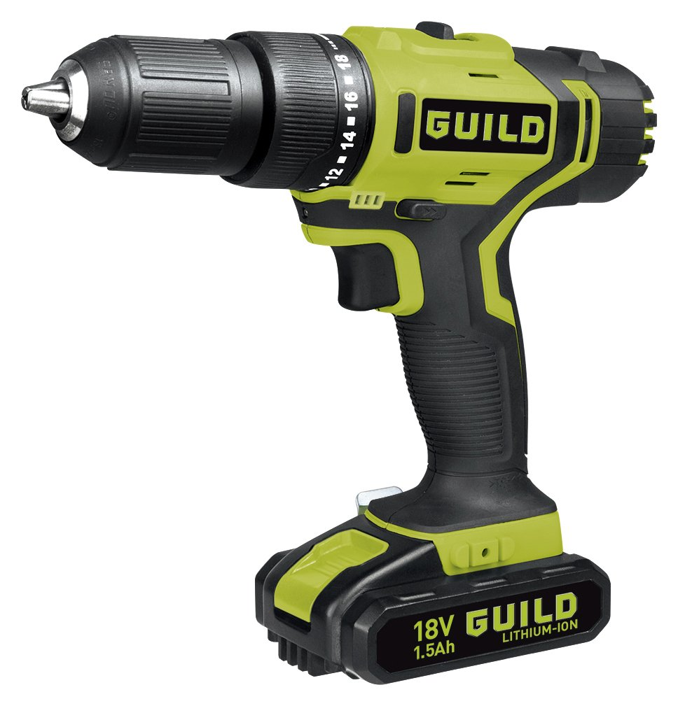 Guild - 15AH Li-On Hammer Drill with Fastcharge Battery - 18V lowest price