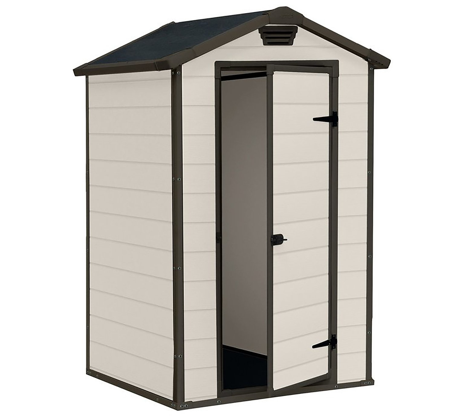 Keter Manor Apex Garden Storage Shed 4 x 3ft - Beige/Brown