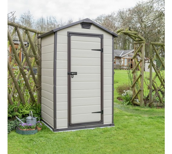 Buy keter manor plastic garden shed 4 x 3ft at for Garden shed 4 u
