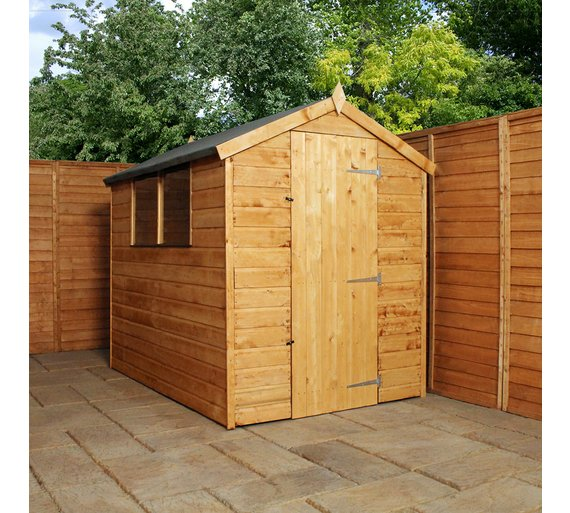 Buy Mercia Shiplap Apex Wooden Garden Shed 7 X 5ft At
