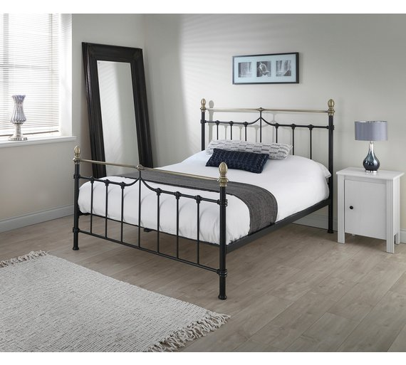 Buy Silentnight Sydney Kingsize Bed Frame - Black | Bed frames | Argos