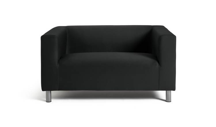 Argos Home Moda Compact 2 Seater Fabric Sofa - Black
