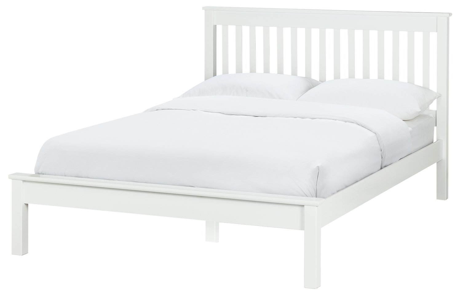 Images Of Beds buy collection aspley small double bed frame - white at argos.co