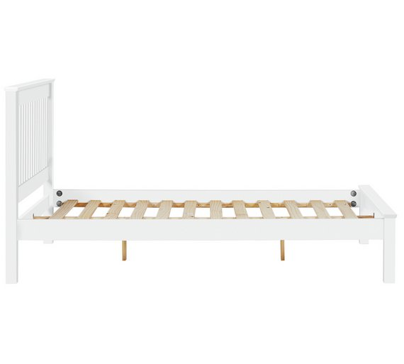 Buy Collection Aspley Small Double Bed Frame White At