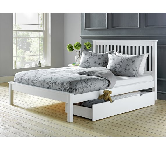Buy Argos Home Aspley Small Double Bed Frame White Bed Frames