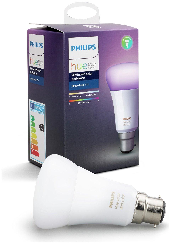Philips Philips Hue Colour Ambiance Wireless B22 LED Light Bulb.
