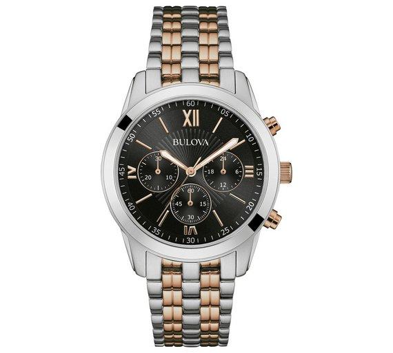 buy bulova men s two tone chrono stainless steel bracelet watch at bulova men s two tone chrono stainless steel bracelet watch483 2700