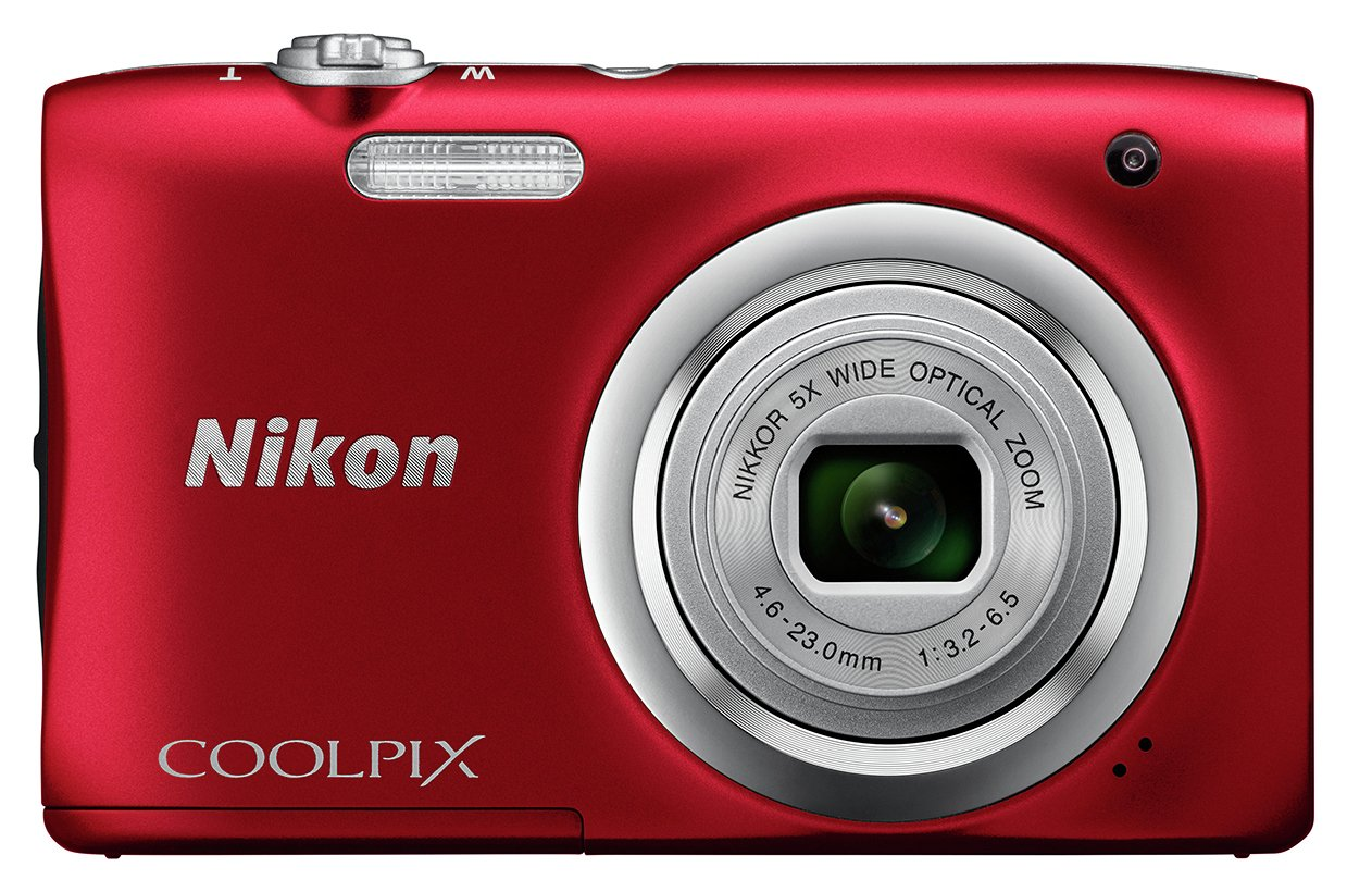 Nikon - Coolpix A100 20MP 5x - Zoom - Compact Camera - Red