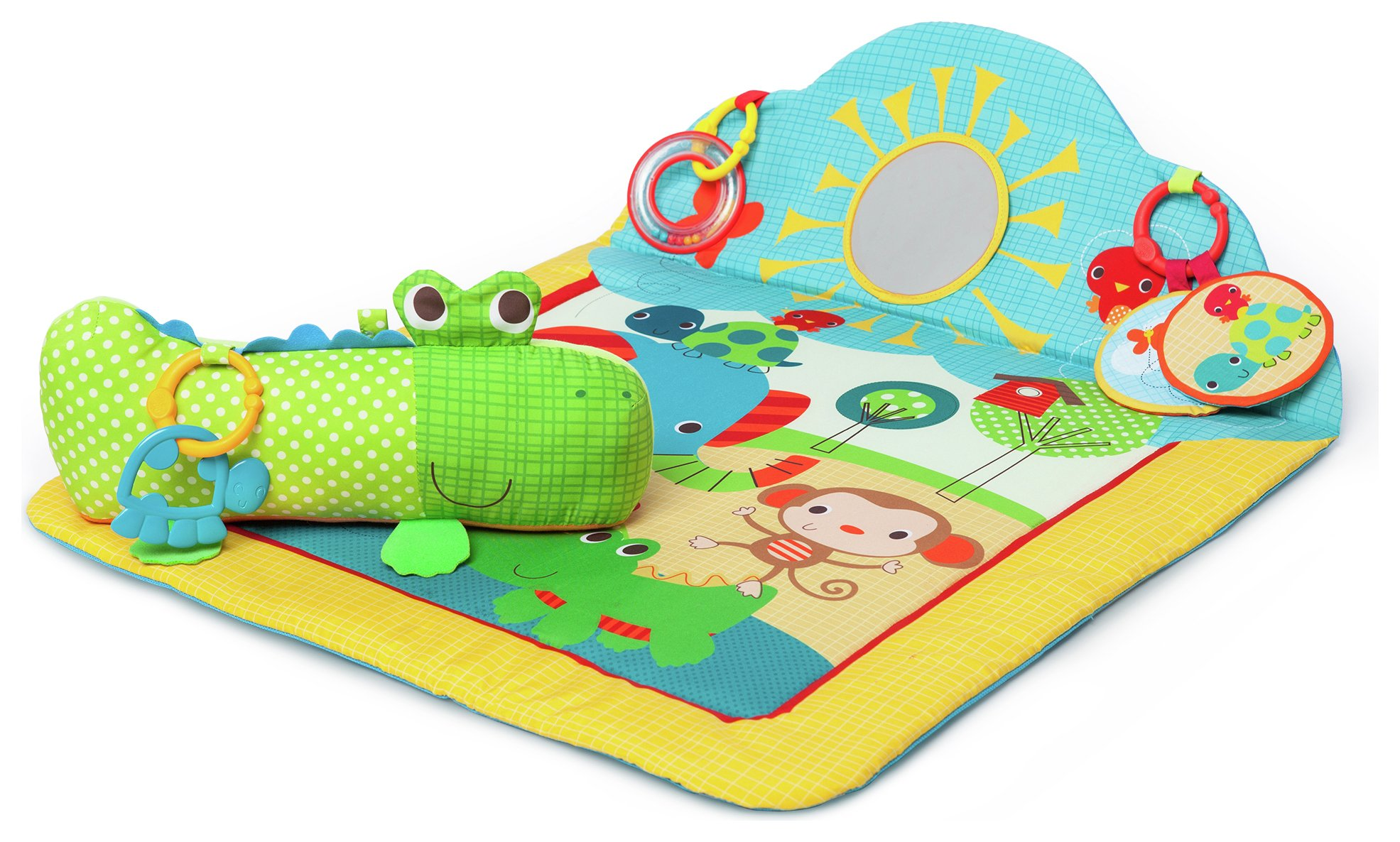 Image of Bright Starts Cuddly Crocodile Play Mat.
