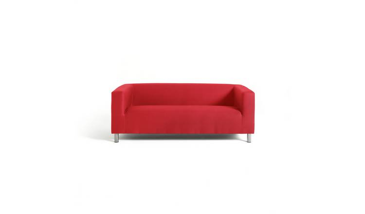 Argos Home Moda 3 Seater Fabric Sofa - Red