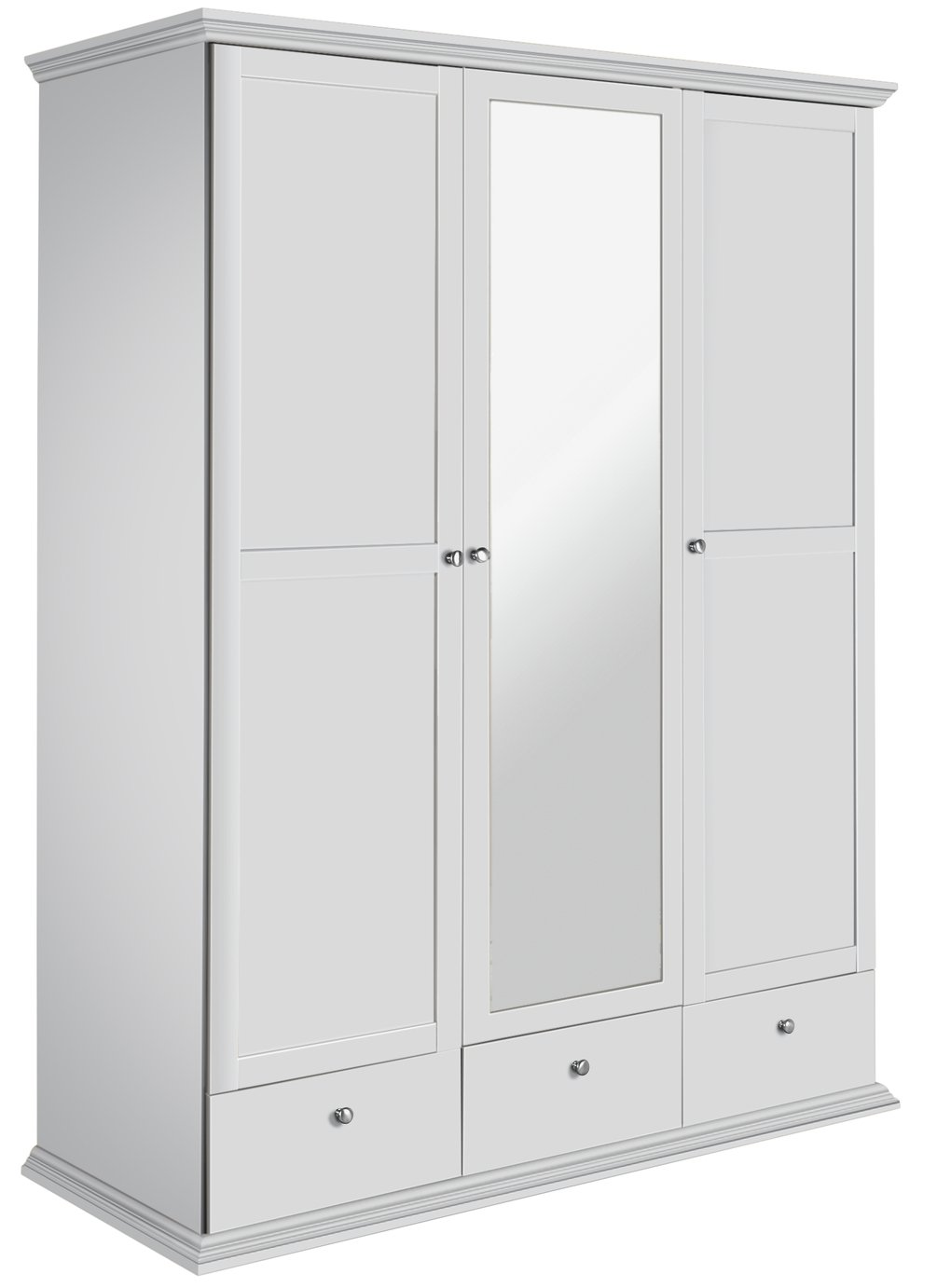 Argos Home Canterbury 3 Door 3 Drawer Mirrored Wardrobe